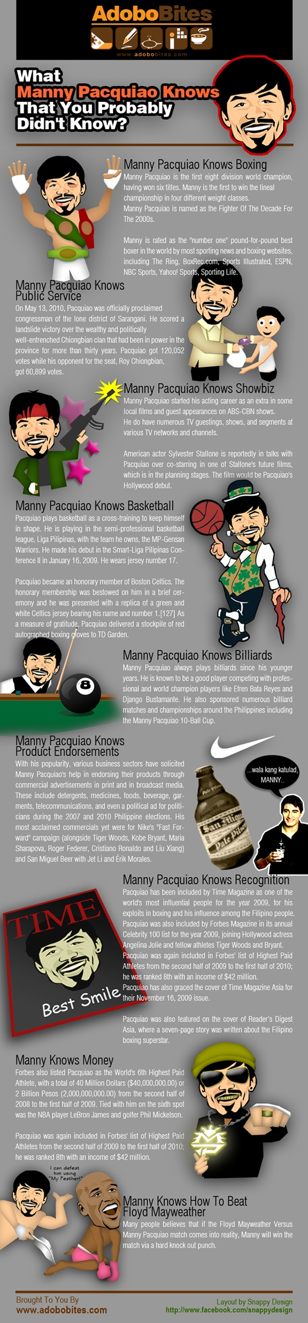 What Manny Pacquiao Knows That You Probably Didn't Know [INFOGRAPHIC]