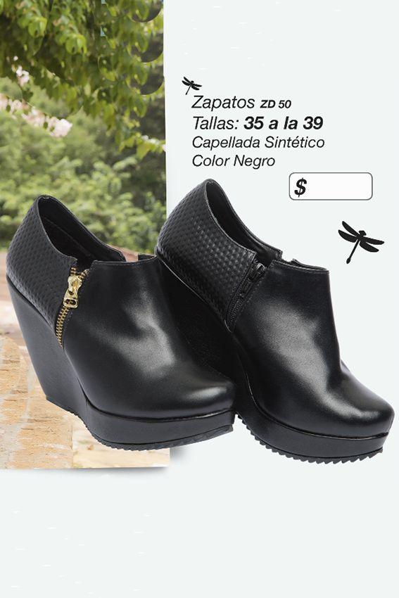 Botines en sintético Referenia: ZD50 Tallas: 35 a la 39 Color: Negro Precio: $90.000