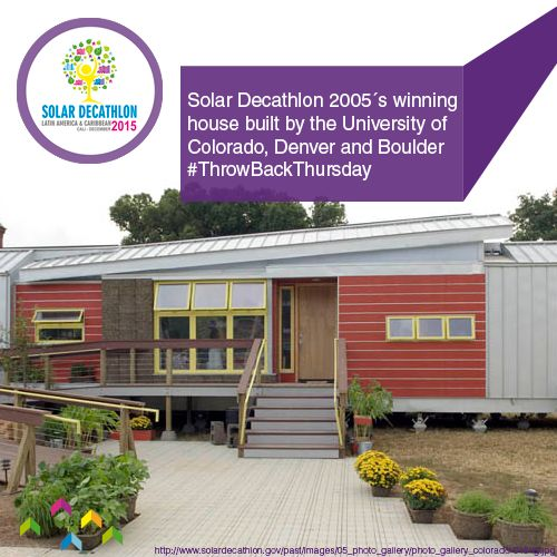 For our #ThrowBackThursday of the week we introduce you the #SolarDecathlon 2005´s winning project created by the University of Colorado, Denver and Boulder. Congratulations to the team!