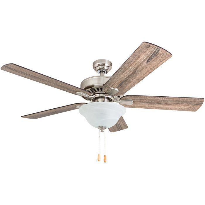 52 Tysen 5 Blade Standard Ceiling Fan With Light Kit Included Ceiling Fan With Light Ceiling Fan Fan Light
