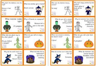 Lunch box notes Halloween jokes