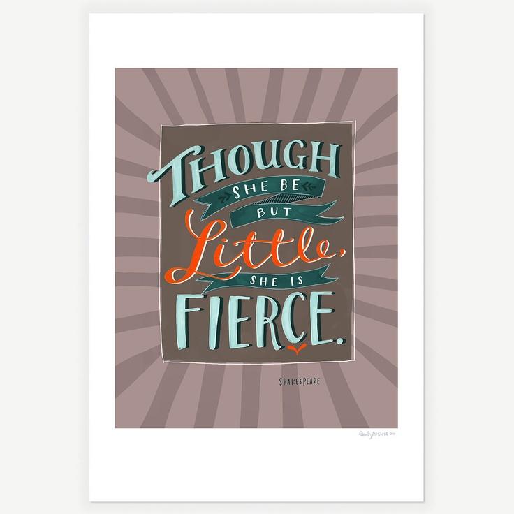 Fierce Shakespeare Print 13x19