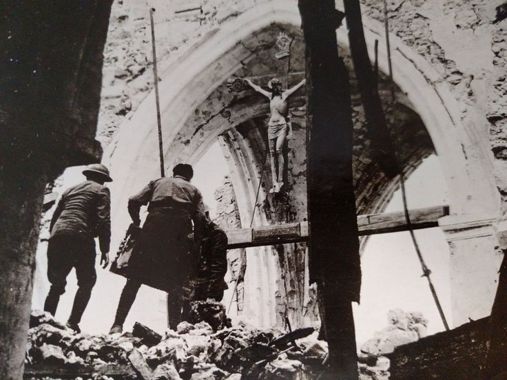 """TheTattooedHistorian on Twitter: """"Crucifix remains in this bombed out church in Vaux, France in 1918. #WWI #USArmy #Faith #WesternFront https://t.co/1DruUgK4Gk"""""""
