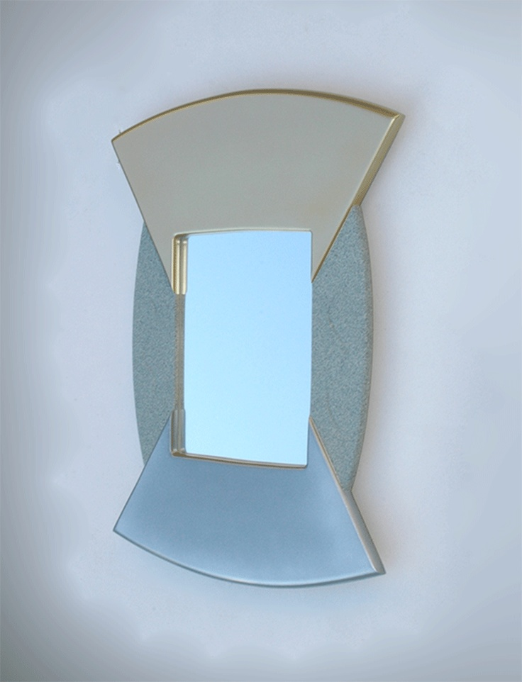 New Mirror, Ideal unique gift, decorative wall mirror for your home Deco, inspired by abstract art. Makes a very special and unique gift.
