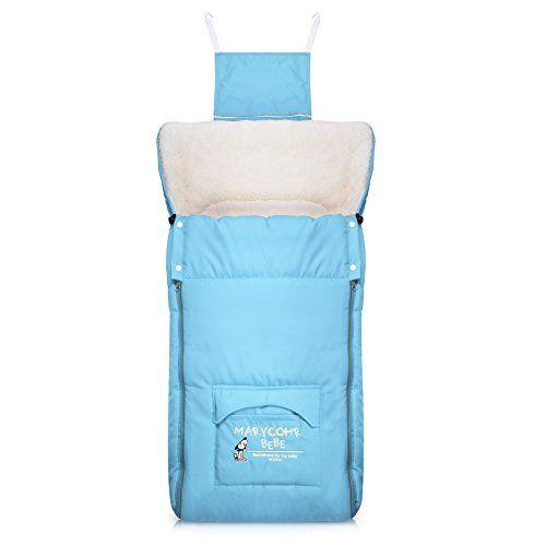 Vbiger Toddler Fleece Sleeping Bag Anti-kicking Baby Swaddle Blanket (Blue) - $25.99