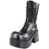 Pleaser Women's Platoon-202 Boot,Black Polyurethane,9 M US (Apparel)