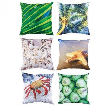 Studio Play™ Beach Cushion Covers Pack of 6: The perfect way to add that beachy feeling to any classroom or quiet corner.