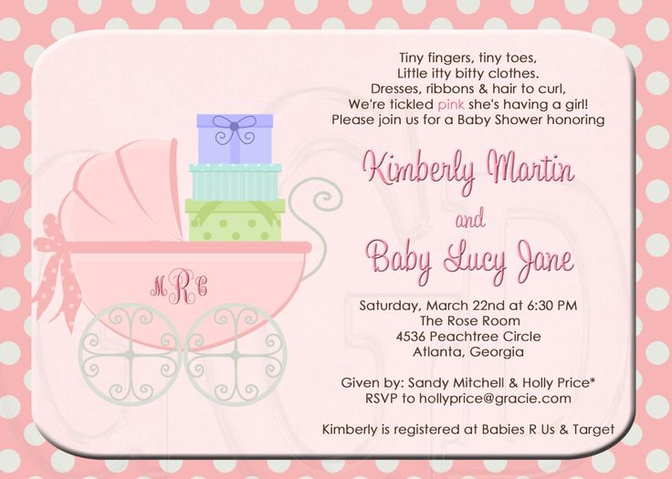 10 best Breathtaking Baby Shower Invitations For Girls images on - how to word baby shower invitations