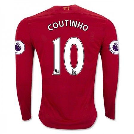 Liverpool 16-17 Philippe #Coutinho 10 Hjemmebanesæt Lange ærmer,245,14KR,shirtshopservice@gmail.com