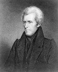 Andrew Jackson was the 7th President of the United States (1829–1837). Based in frontier Tennessee, Jackson was a politician and army general.