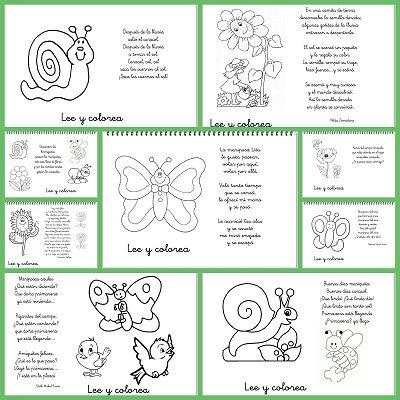 Poemas de primavera: Lee y colorea