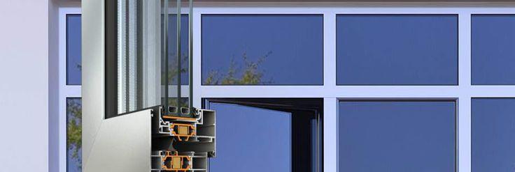 """Sistema #termoisolato completo Alumil S60 con una vasta scelta di tipologie di apertura, offrendo un'alta efficienza energetica. •    Ampia gamma del design dei profili utilizzabili •    Porte d'entrata •    Finestre e porte-finestre ad anta nascosta •    Ideale per applicazione su """"window walls"""" •    Eccellente isolamento termico: ampliamento della zona isolante (38 mm) e inserimento barrette di bassissima conducibilità termica (Kooltherm) raggiungendo un valore Uf fino a 0.98W/m²K"""