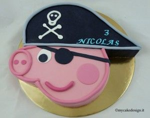 Di Paola - Polvere di Zucchero (Tutor) sito: www.polveredizucchero.com  Ed infine oggi vi propongo una torta sempre a tema Peppa Pig, George pirata,