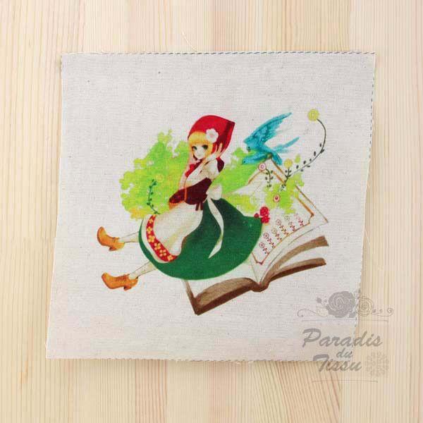 1x coupon tissu 50x145cm en lin motif imprim papillon 37 for Coupon haute couture