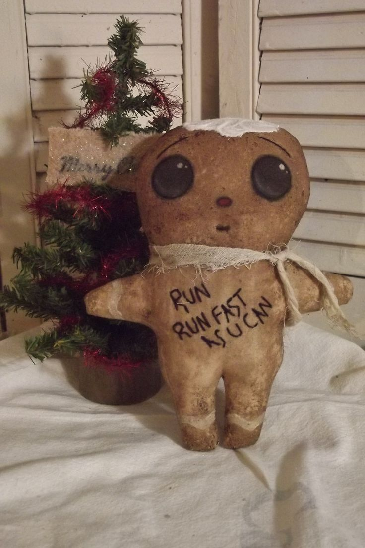 Primitive Cloth Doll Pattern Gingerbread Epattern - pinned by pin4etsy.com