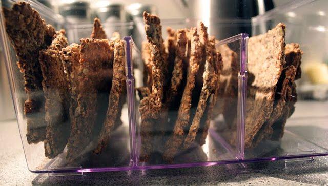 Oppskrift Hjemmelaget Knekkebrød Chia Linfrø Hamp Homemade Crispbread