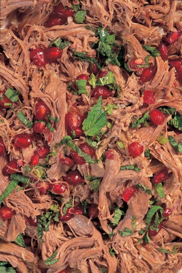 Warm Shredded Lamb Salad With Mint and Pomegranate | Nigella's Recipes | Nigella Lawson