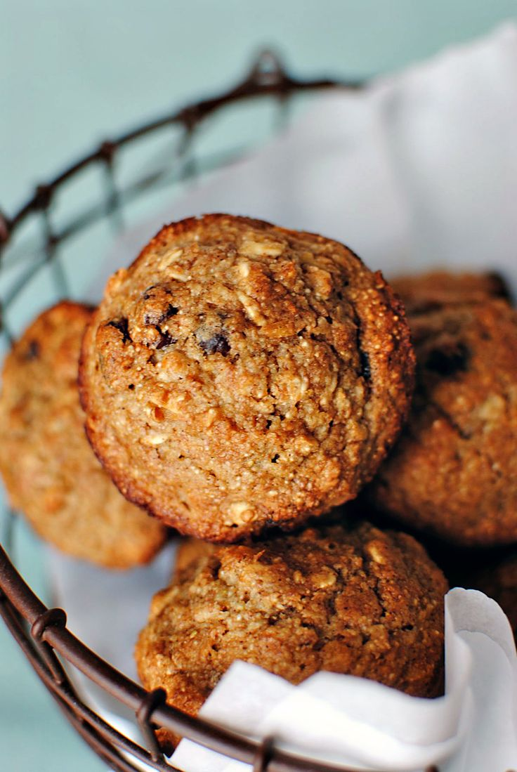 Healthy Applesauce Oatmeal Muffin. I made these using peach applesauce and sultanas. I substituted almond milk for the milk and almond flour for the wheat flour and topped with butter and sugar. Tasty!