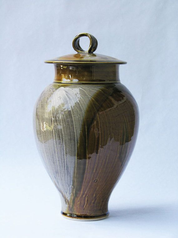 Cremation Urn Funeral urn No. 2038 by DonJohnsonPottery on Etsy, $110.00
