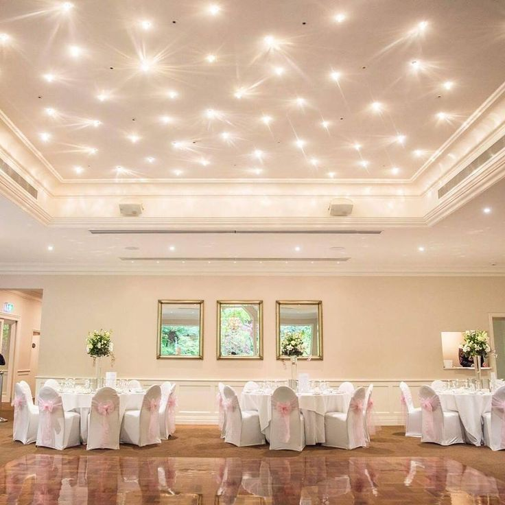 Lyrebird Falls Wedding Receptions elegant dining room! Come and celebrate your big day underneath our stunning star lights!