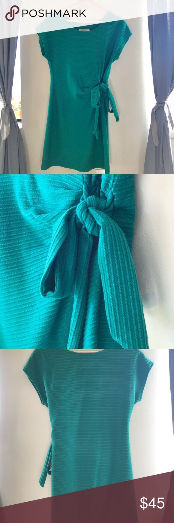Anthropologie Saturday Sunday Dress Emerald green dress by Saturday Sunday. The tie ok the side gives it a little more shape, which is nice. The material is slightly thicker cotton so I have worn this often in the summer and winter. Anthropologie Dresses Mini