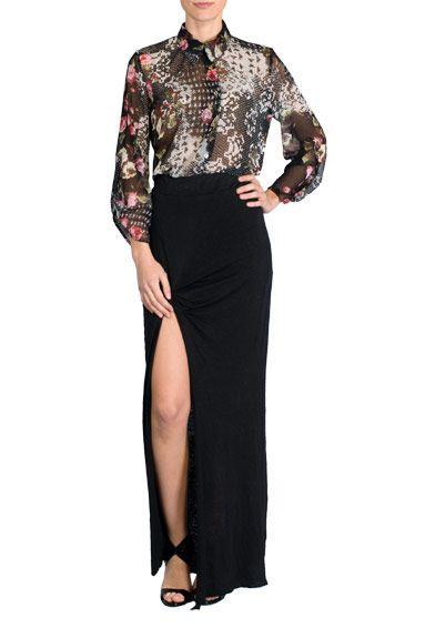 Falda larga negra de Sira Ryf