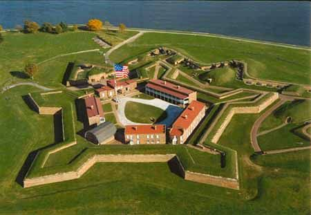 Fort Ticonderoga, New York - Ethan Allen and the Green Mountain Boys, along with Benedict Arnold, captured the fort on May 10, 1775. The capture stalled a planned British invasion from Canada and also enabled American troops to invade Canada themselves. The British recaptured the fort in 1777 but abandoned it in 1780.