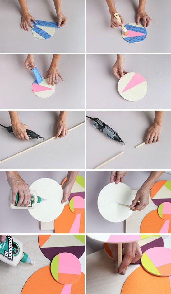 How to: Make DIY Colorful 3D Geometric Wall Art