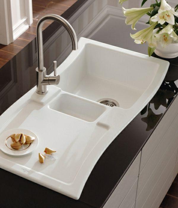 Auralum® 55cm*45cm*22cm Küchenspüle aus Gebürstetem Edelstahl 2 ...