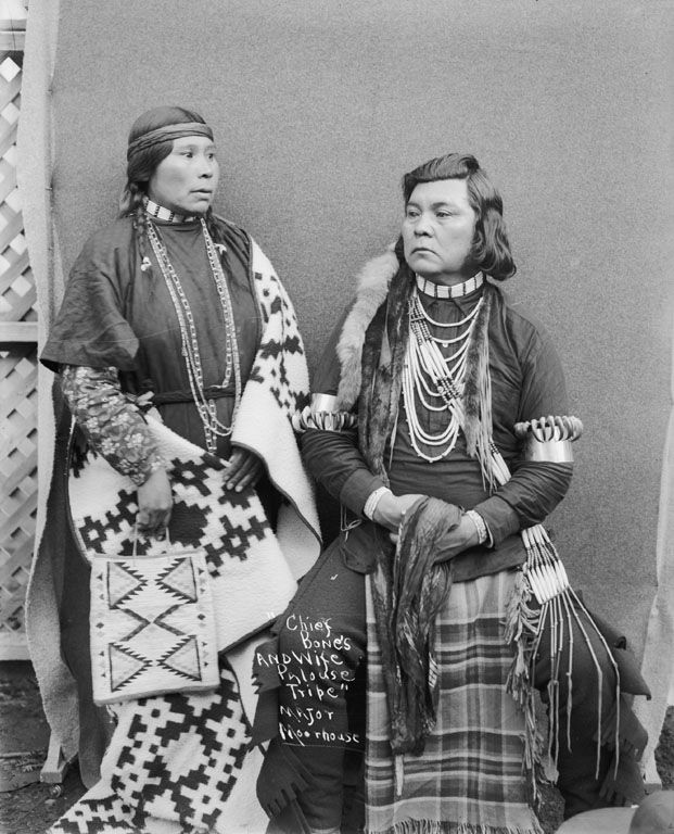 Chief Bones and wife, Palouse,1900