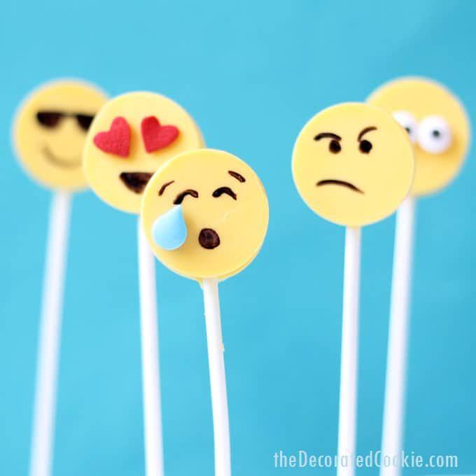 17 Emoji Food Ideas For Your Emoji Themed Party List Obsessed Chocolate Pops Emoji Food Lollipop Mould