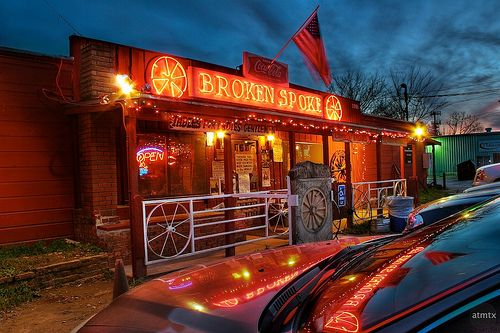 "An Austin Classic..""The Broken Spoke""..a landmark in Austin,Texas."