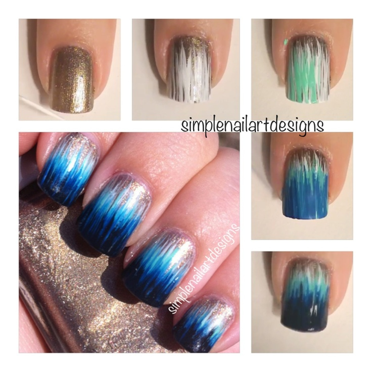 Ombre Dip Dye Nails Tutorial #nails #tutorial #ombre #dipdye