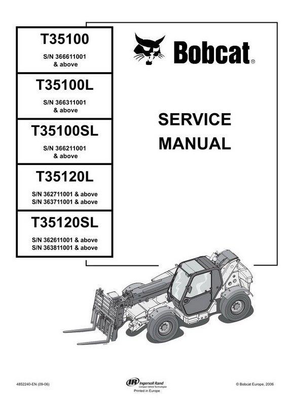 bobcat t35100(s)(l) t35120(s)l telescopic handler service manual Bobcat Excavator 331 Parts Diagram