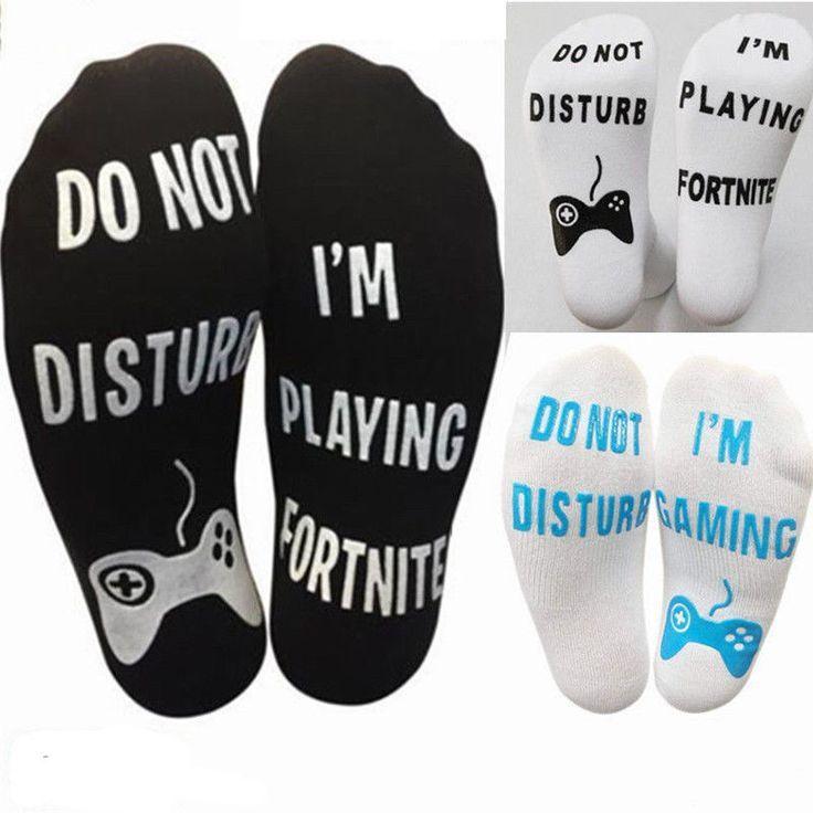 Unisex Novelty Funny Sport Socks DO NOT DISTURB// I/'M Gaming Gift  for boyfriend