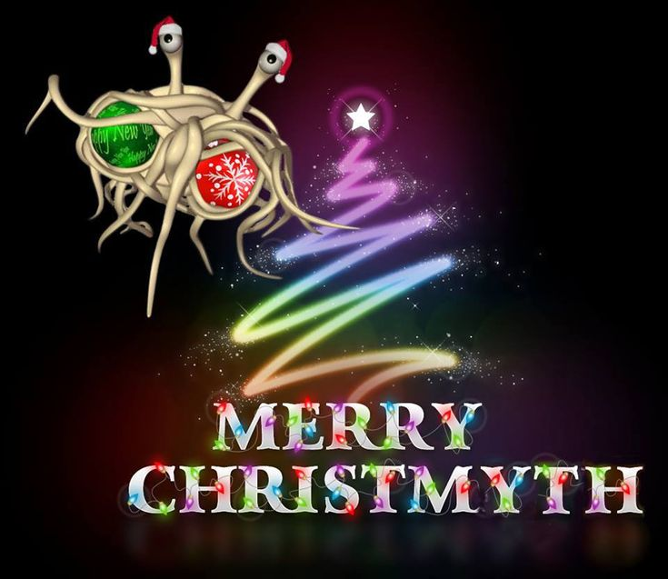 Merry Christmyth with the Flying Spaghetti Monster ~  The Flying Spagetti Monster Meme Page on Facebook