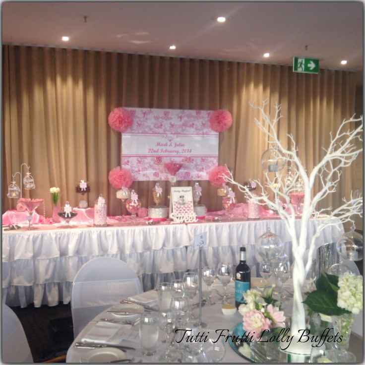 Pink & White Wedding Buffet!!