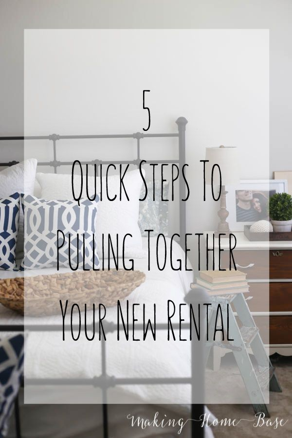 5 quick steps to pulling together your new rental space! @bhglivebetter #livebetternetwork #ad