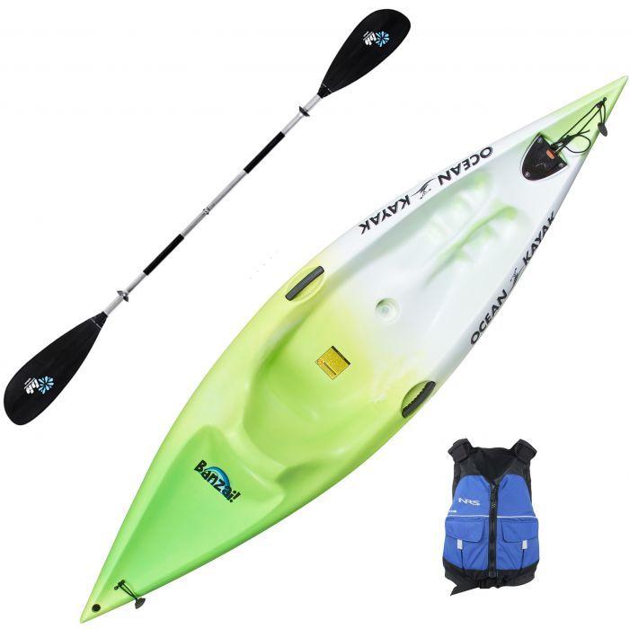Ocean Kayak Banzai Kids Kayak Package