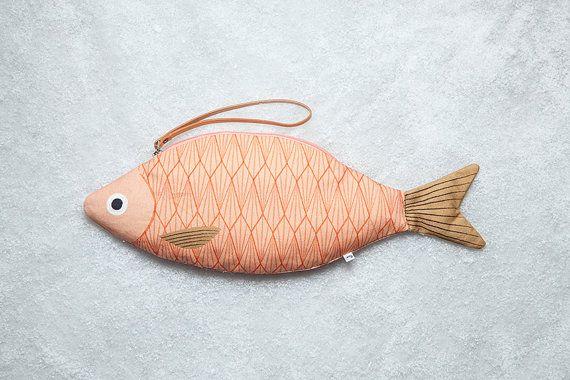 Saumon poisson-cabas 100 % coton par DonFisherShop sur Etsy 38