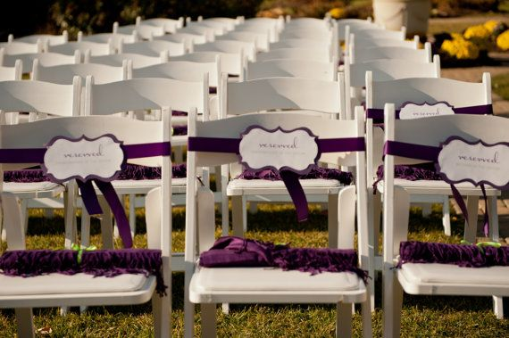 wedding ceremony reserved seats | Giveaway: Reserved Wedding Signs - Rustic Wedding Chic