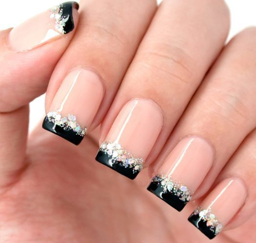 Black French Manicure Designs
