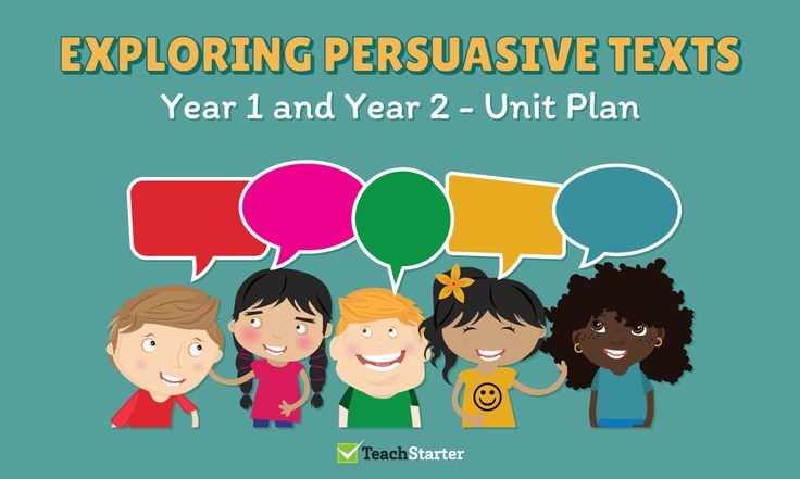 Exploring Persuasive Texts Unit Plan - Year 1 and Year 2