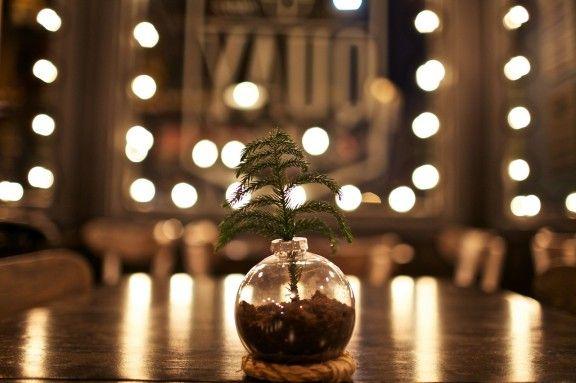 {diy} christmas ornament vase