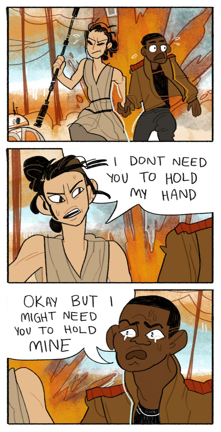 HE'S JUST A LITTLE STRESSED OUT - Rey and Finn in Star Wars: The Force Awakens