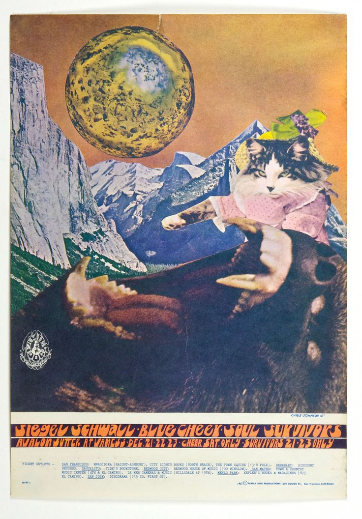 Family Dog 097 Poster Siegal Schwall Blue Cheer 1967 Dec 21