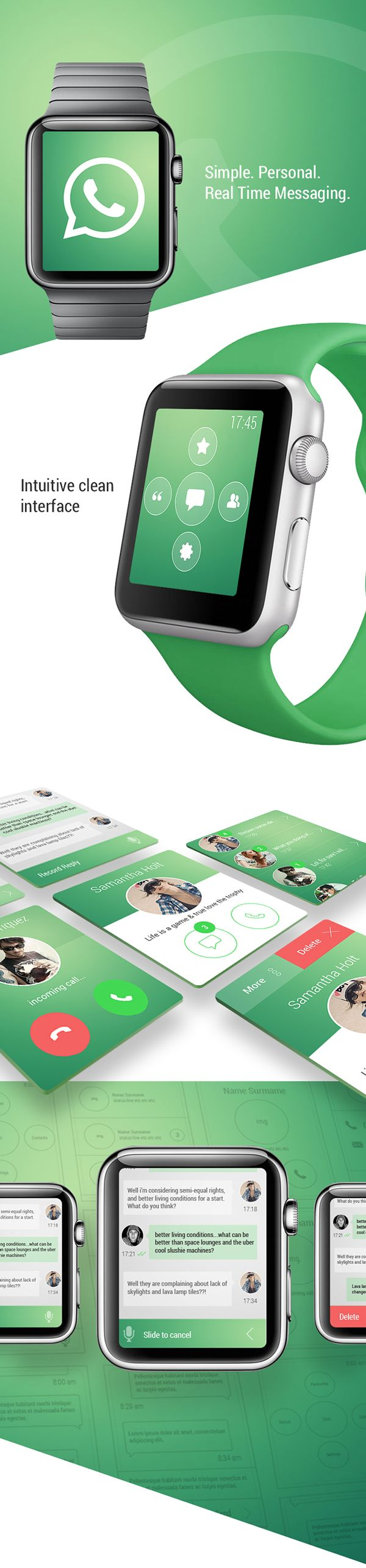 WhatsApp iWatch Concept on Behance [Insp. UI/UX