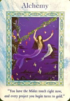 Alchemy, from the Magical Alchemy, from the Mermaids and Dolphins Oracle Card deck, by Doreen Virtue, Ph.D