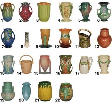 Roseville Pottery Patterns,  F-L                                                                                                                                                     More