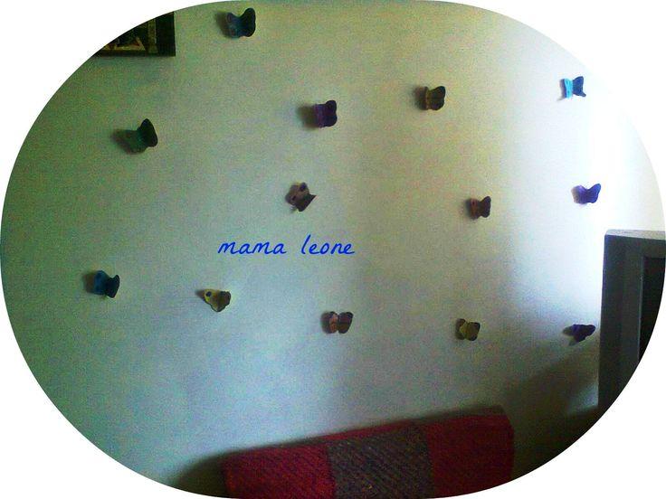 paper butterflies ....on my bedroom wall :))